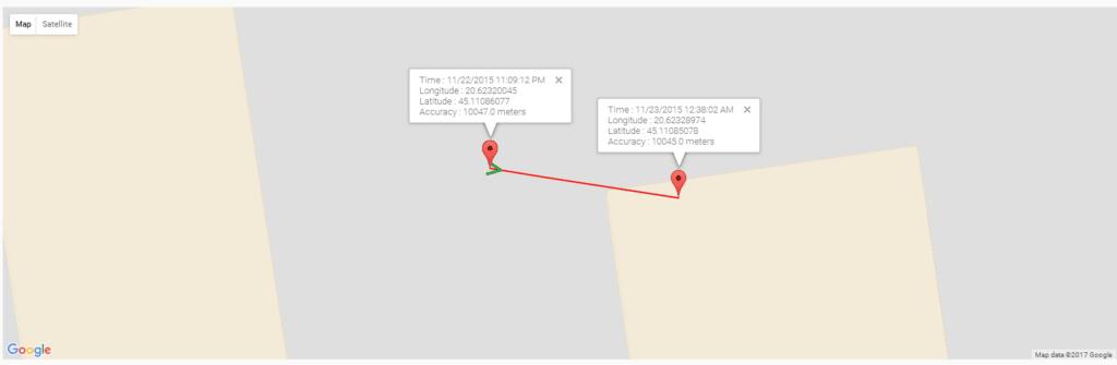 Rastrear la ubicación del GPS